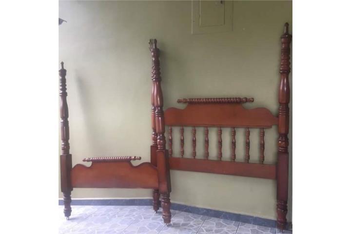 Cama Vintage Madera Caoba Puerto Rico