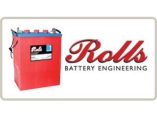 Bayamón Puerto Rico Techos Aluminio o Galvanizados, Baterias ROLLS 6V S550 a 428ah y S230 a 230ah