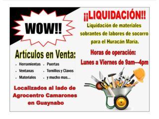 Carolina Puerto Rico Equipo Construccion, ¡¡LIQUIDACIÓN DE MATERIALES Y HERRAMIENTAS!!