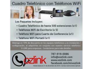 Comerío Puerto Rico Equipo Comercial, Cuadro Telefónico con Teléfonos WiFi
