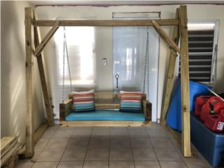 Carolina Puerto Rico Muebles Sala, Columpio en madera tratada