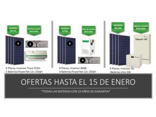 Caguas Puerto Rico Energia Renovable Solar, SISTEMAS CON PLACAS PARA EMERGENCIAS