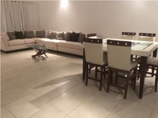 Humacao-Palmas Puerto Rico Muebles Mesas Comedor, Sofá seccional y mesa de comedor con 6 sillas