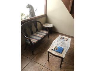 San Juan-Condado-Miramar Puerto Rico Arte, Set love seat con dos mesitas