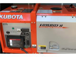 San Juan-Santurce Puerto Rico Herramientas, Plantas Electrica Kubota Lowboy GL-7000 (7kW)