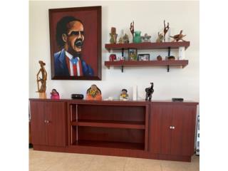 San Juan Puerto Rico Enseres Estufas, Credenza con tabllillas, 100% PVC