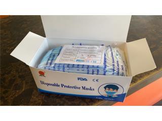San Juan Puerto Rico Equipo Medico, Mascarillas Certificadas FDA $.70c $35 Caja de 50