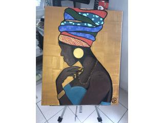 Bayamón Puerto Rico Abanicos, Canvas de Africana