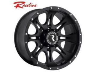 Aros negros RACELINE para Jeep y 4x4. Puerto Rico Custom Dream 4 x 4