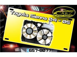 ABANICOS Toyota SIENNA 2004 - 2005 Puerto Rico CARZ Body Parts