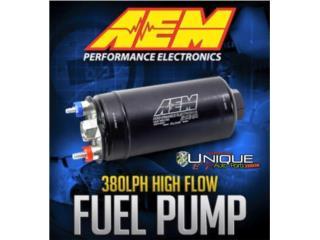 Nueva Bomba Gasolina AEM 380LPH Puerto Rico UNIQUE AUTO PARTS