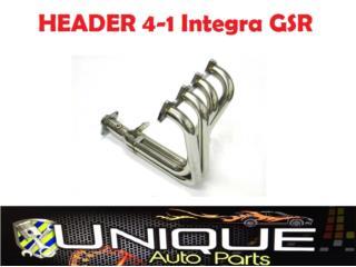 Header Racing 4-1 Integra GSR 94-01 B18C Puerto Rico UNIQUE AUTO PARTS