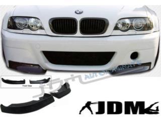 BMW E46 M3 99 03 FRONT LIP 2 PIEZAS EN GOMA Puerto Rico JDM AUTOLUMINATE