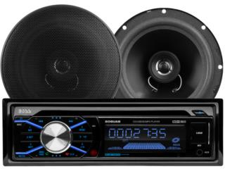 BOSS Combo AM-FM-CD-Bluetooth con 2 bocinas Puerto Rico Top Electronics