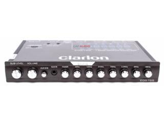 CLARION Pre Amp 7 bandas 8 Volt Equalizer Puerto Rico Top Electronics