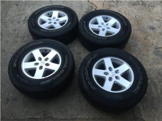 4 AROS 17 JEEP WRANGLER CON SPACERS Puerto Rico Import Tire