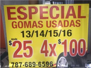 gomas 13 - 14 -15 -16- 4 X100 Puerto Rico GOMERA ESPINAL