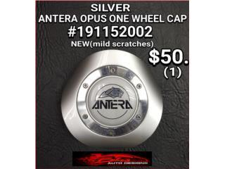 ANTERA OPUS SILVER CENTER CAPS #191152002 Puerto Rico BLAS AUTO DESIGNS