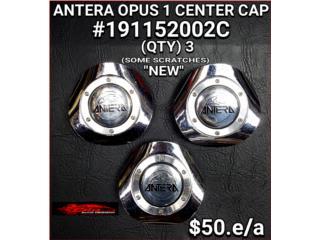 ANTERA OPUS CHROME CENTER CAPS #191152002C Puerto Rico BLAS AUTO DESIGNS