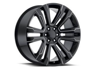 AROS GMC NUEVOS 22x10 NEGRO CON MILLING Puerto Rico JJ Wheels and Tires