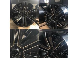 AROS GMC NUEVOS 24x10 NEGROS CON MILLING Puerto Rico JJ Wheels and Tires