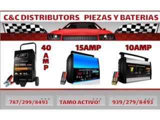 Cargador de 10 15 40 amperes desde $55 Puerto Rico C & C DISTRIBUTORS BATERIA 8am a 5pm 939-279-8493