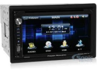 AM-FM-CD-DVD 6.2 touch, Bluetooth, 2-Din Puerto Rico Top Electronics