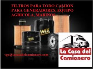 FILTROS WIX PUERTO RICO GENERADORES, CAMIONES Puerto Rico  La Casa del Camionero