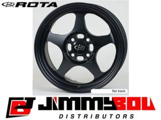 ROTA Slipstream / 15x7 / Flat Black / 4x100 Puerto Rico JIMMY BOU DISTRIBUTORS