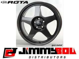 ROTA Slipstream / 16x7 / Gun Metal / 4x100 Puerto Rico JIMMY BOU DISTRIBUTORS