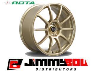 ROTA G-Force / 17x8 / Gold / 5x100 Puerto Rico JIMMY BOU DISTRIBUTORS