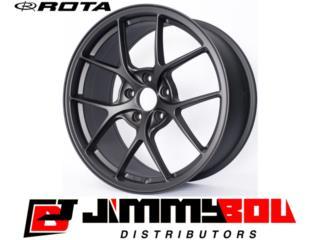 ROTA KB-R / 18x9.5 / Flat Black / 5x100 Puerto Rico JIMMY BOU DISTRIBUTORS