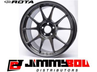 ROTA Titan / 17x8 / Hyper Black / 5x114 Puerto Rico JIMMY BOU DISTRIBUTORS