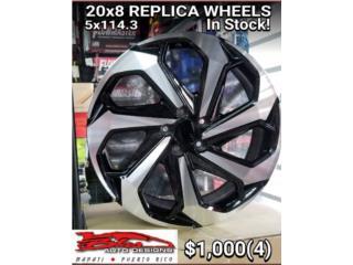 20 X 8 REPLICA WHEELS 5 X 114.3  Puerto Rico BLAS AUTO DESIGNS