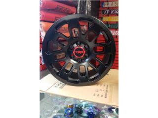 AROS TRD PRO 2018 TAMANO 17X8 SATIN BLACK Puerto Rico JJ Wheels and Tires