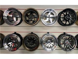 ESPECIAL AROS KOMBAT 15x7 & 15x8 (4 ROTOS) Puerto Rico JJ Wheels and Tires