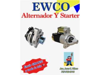 ALTERNADORES Y STARTER / TODO TIPO D MOTORAS  Puerto Rico ALTERNADORES Y STARTERS EWCO