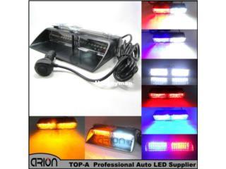 8 LED STROBE AMBAR AND WHITE EMERGENCY LIGHT Puerto Rico JJ illumination and Accessories