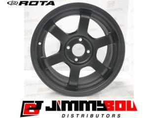 ROTA Grid 15x7 4x100 Flat Black  Puerto Rico JIMMY BOU DISTRIBUTORS