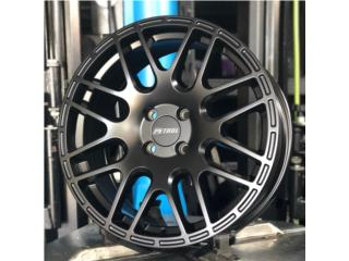 PETROL WHEELS - 17 - 4X100 - Negro Mate Puerto Rico aroshop