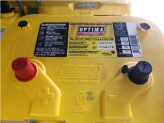 BATERIA OPTIMA AMARILLA 870CA Puerto Rico C & C DISTRIBUTORS BATERIA 8am a 5pm 939-279-8493