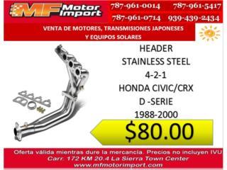 HEADER HONDA CIVIC STAINLES STEEL    Puerto Rico MF Motor Import