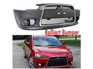 BUMPER RALLIART LANCER 2008-2016 EN GOMA Puerto Rico MUSIC ON AUTO ACCESSORIES INC.