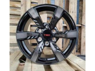 AROS TRD FORTUNER 20X9 NEGROS CON CHARCOL Puerto Rico JJ Wheels and Tires