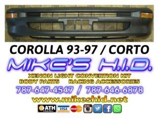 BUMPER CORTO COROLLA 93 - 97 JDM - GOMA Puerto Rico MIKE'S H.I.D.