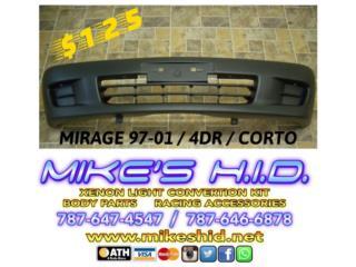 BUMPER DELANTERO CORTO MIRAGE 97 - 01 4DR Puerto Rico MIKE'S H.I.D.