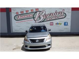 13027 Nissan Versa 2014 Bumper Delantero  Puerto Rico JUNKER BERNIRD