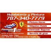 Formula 1 Uno Body Shop Puerto Rico