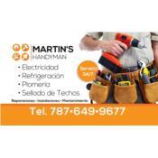 Martín Handyman service, Electricista en Hogar o Negocio cubirendo Isabela