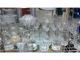Vasos Vajilla platos cristaleria cristal, Equipos Comerciales Puerto Rico